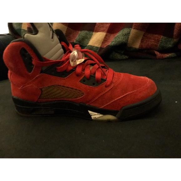 154b55b9cd7425 Jordan Other - Air Jordan 5 Retro ( Raging Bull Red Suede )